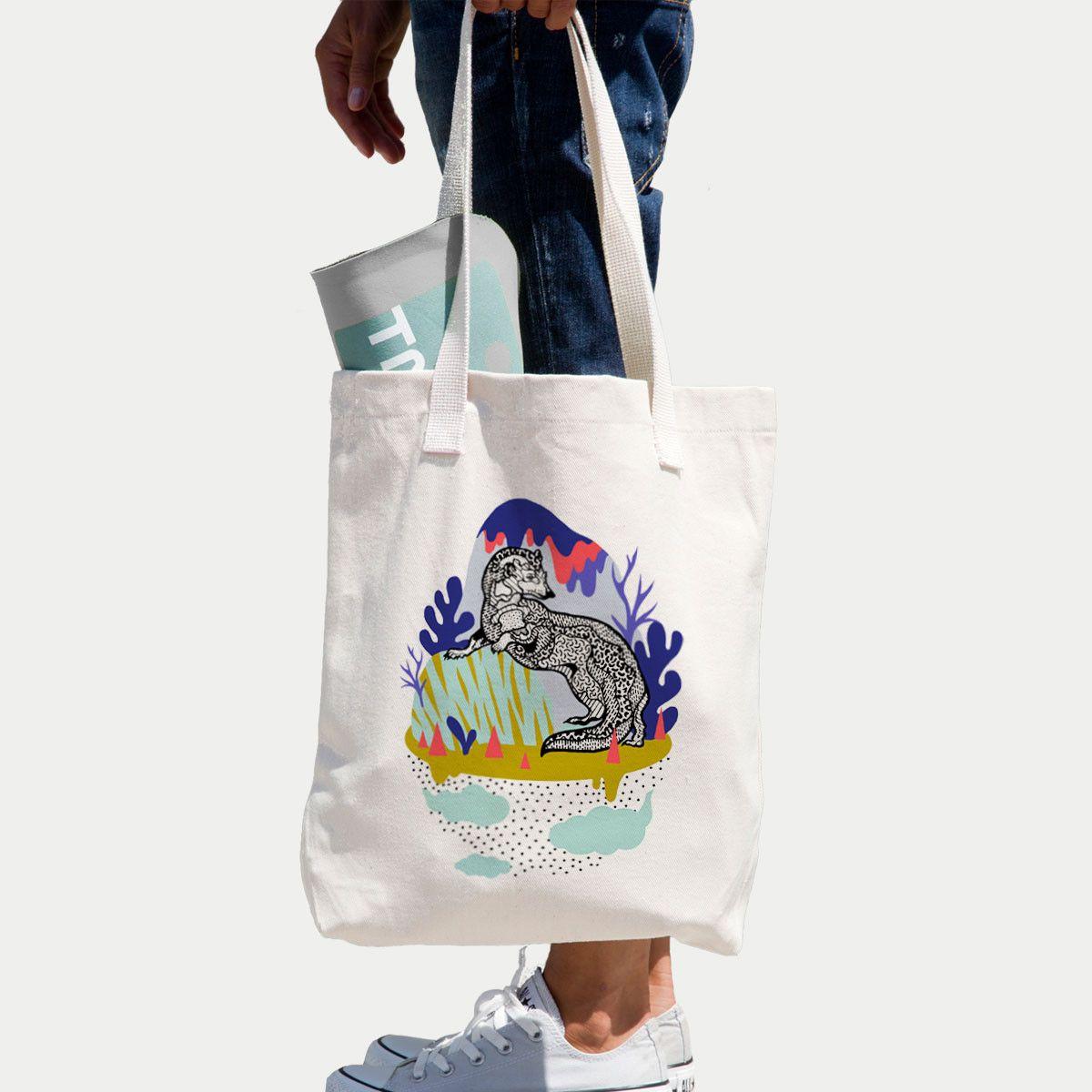 The Print Marten Tote Bag. Digital Illustration. www