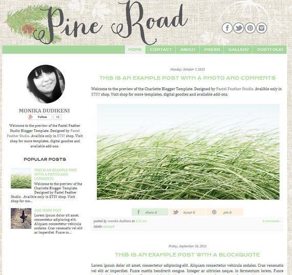 pine road blogger template multipurpose blog design blogger