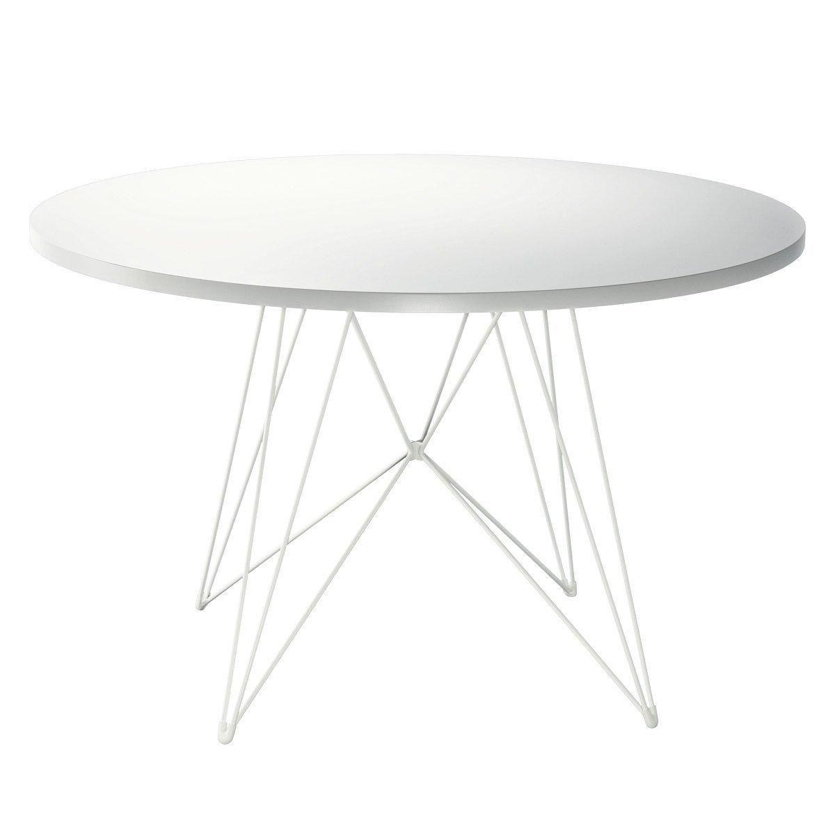 €550 Magis - Tavolo XZ3 Tisch rund - weiß/Gestell weiß/Ø 120 cm ...