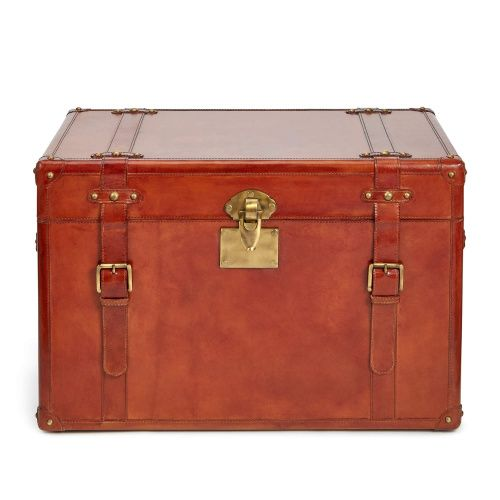 Vanderbilt Leather Trunk Extra Large Storage And Luggage