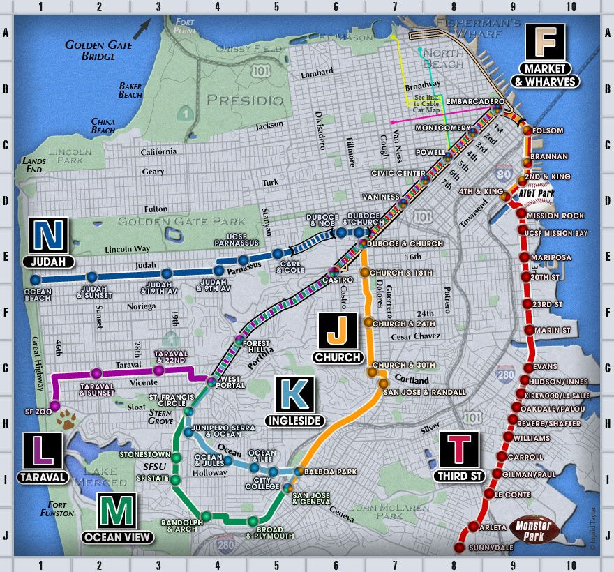 Muni Subway Map.Navigate Public Transportation In San Francisco Like A Pro In 2019
