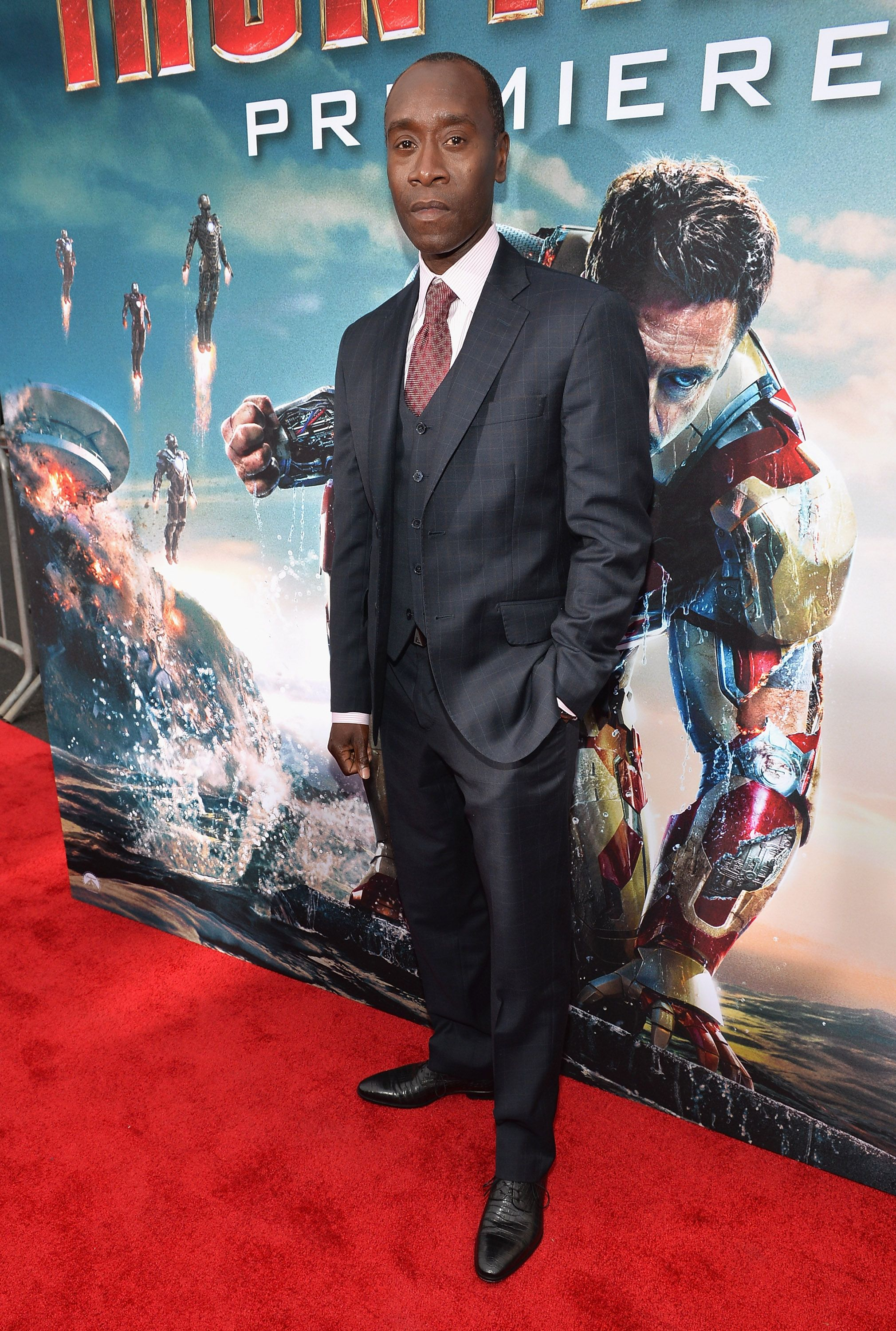 Actor Don Cheadle Attends Marvel S Iron Man 3 Premiere At The El Capitan Theatre On April 24 2013 In Hollywood Ca Iron Man 3 Marvel Universe Movies Iron Man