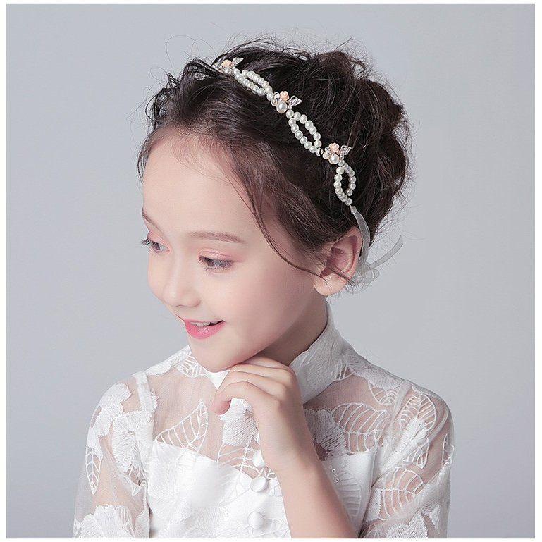 a93a8755158f6 子どもフラワーティアラ カチューシャ ヘアバンド 子供用 フォーマル 髪飾り ヘアアクセサリー キッズ 結婚式