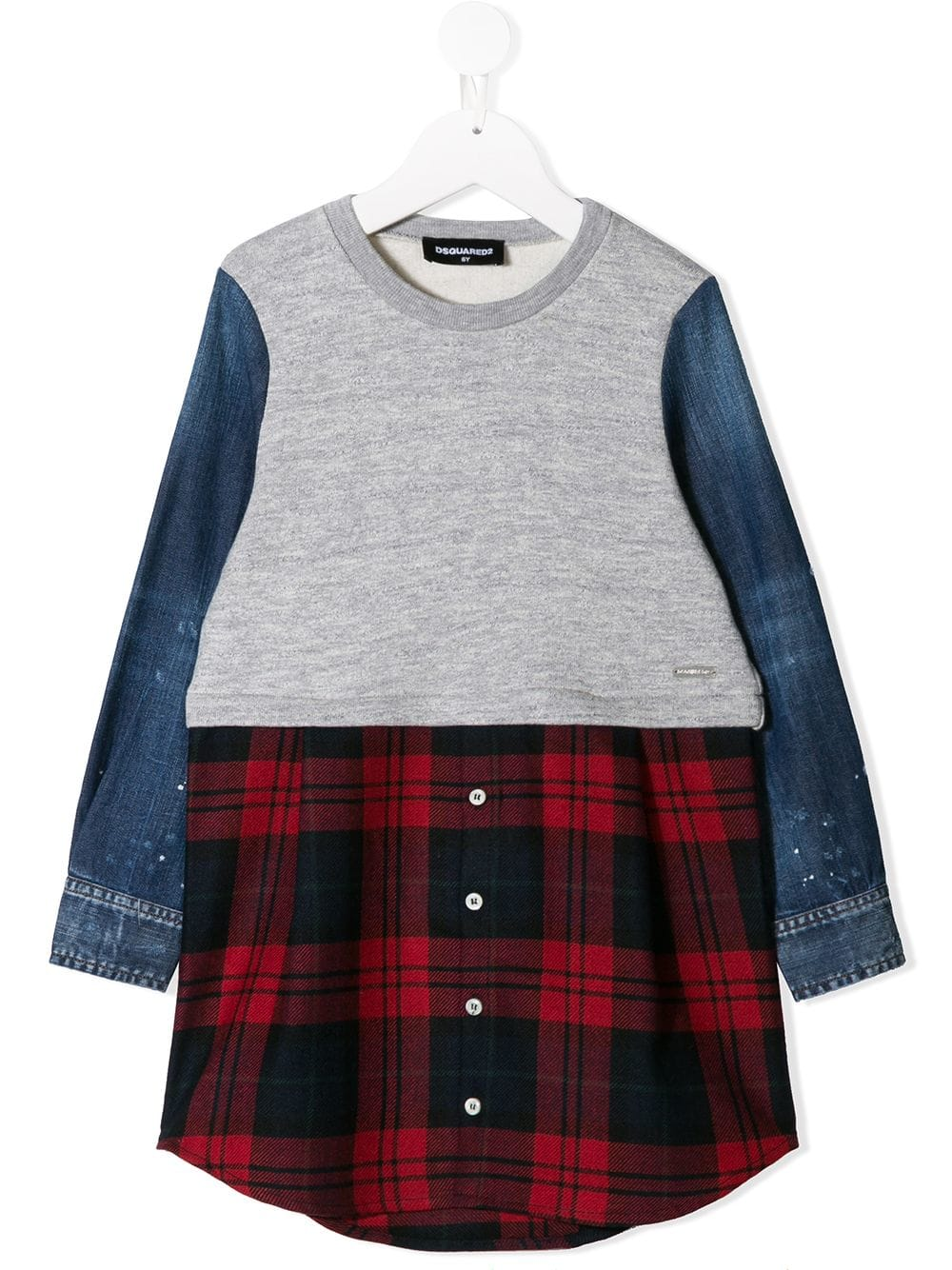 779696b40 Dsquared2 Kids tartan sweatshirt dress - Grey in 2019 | Products ...
