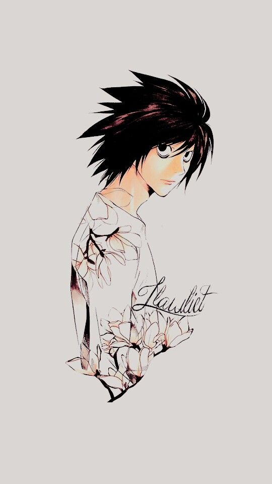 L wallpapers by kurooa on Tumblr Death Note Pinterest