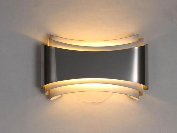 Modern LED Curved Wall Lamp in 2020 | Wall lamp, Wall