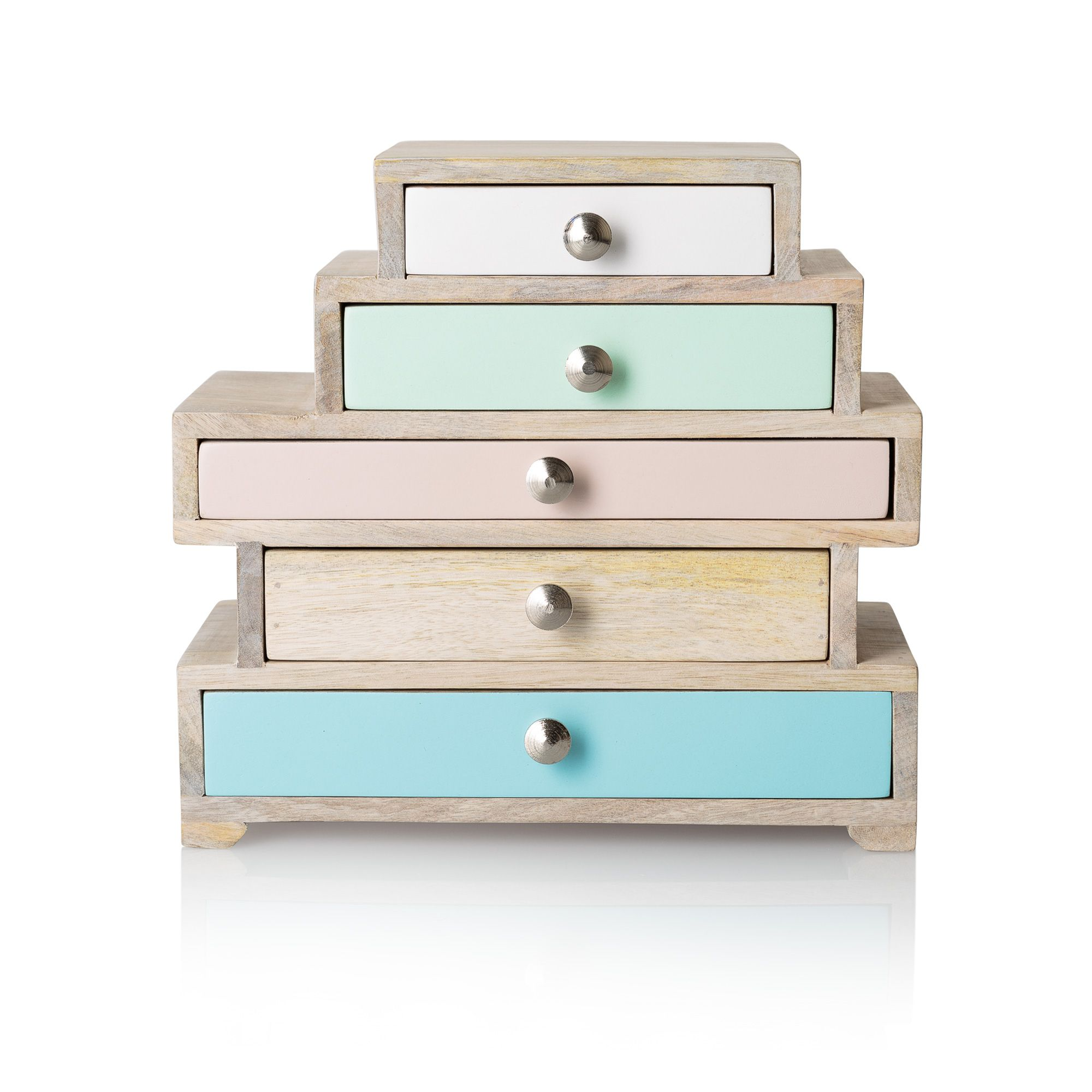 Eva Five Drawer Jewellery Box Dwelling Wooden Jewelry Boxes