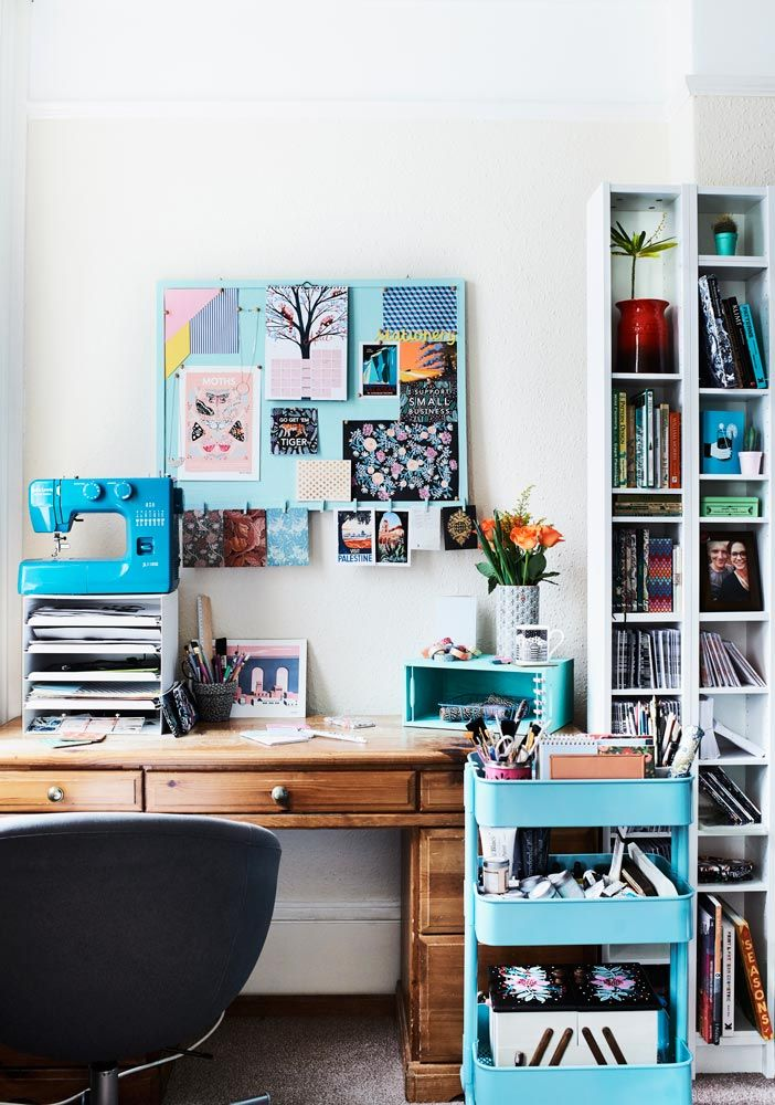 Blue Home Office Storage In The Creative Work E Of Etsy Er Papio Press More