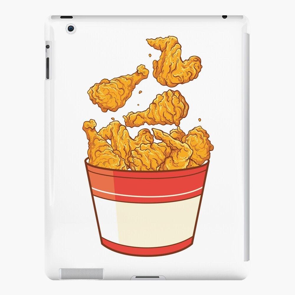 Large Chicken Bucket Ipad Retina 3 2 Snap Case By Lazykoala In 2021 Chicken Bucket Fried Chicken Chicken Illustration