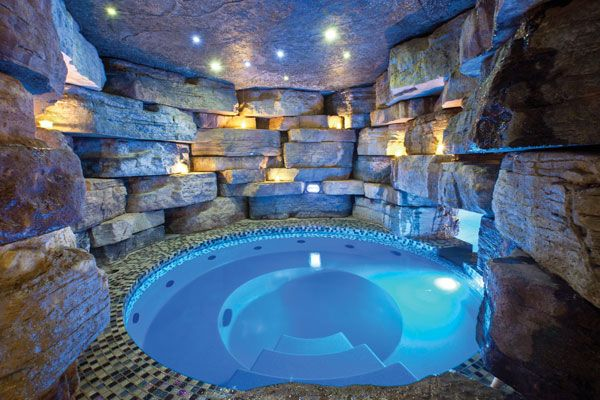 Pin By Deanna Williams Rogowski On Home Sweet Home Indoor Jacuzzi Hot Tub Room Grotto Pool