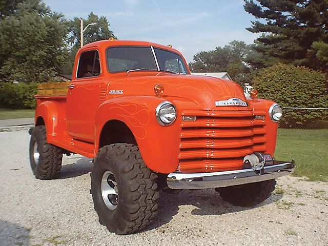 This Sick 1950 Lifted Chevy Pickup Truck From Indiana Was Pieced Together From A Chevy Trucks Pickup Trucks Trucks