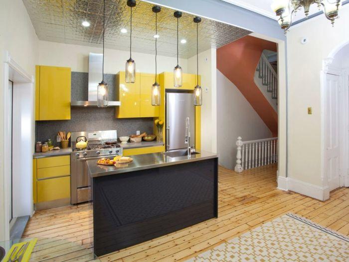 Fesselnd Wohnideen Küche Einzelne Module Und Bodenbelag Mit Holzoptik