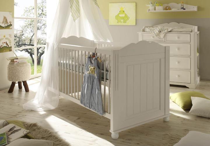 Babyzimmer CINDERELLA PREMIUM Kiefer teilmassiv weiß Baby Pinterest