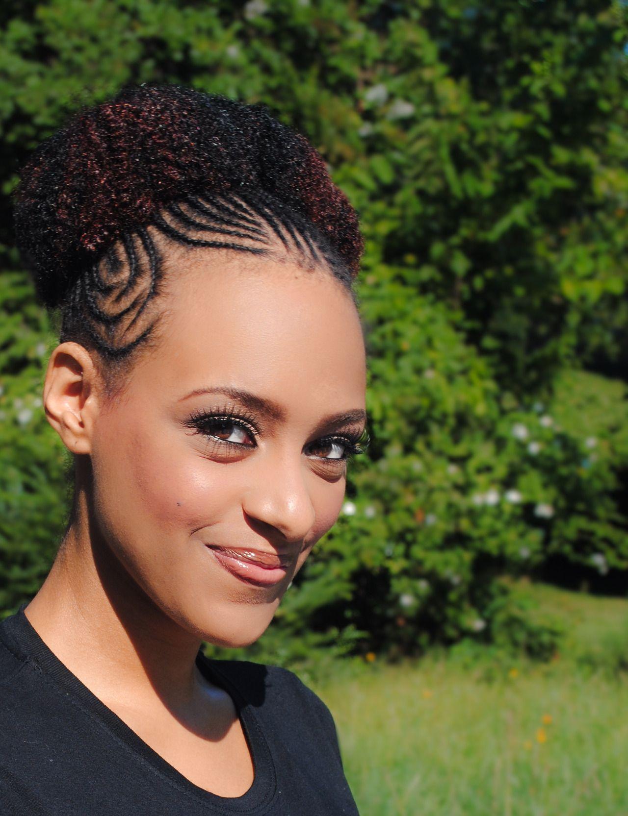Black hair - Cute Natural Hair Updo. Precious Curls A Natural Hairspiration
