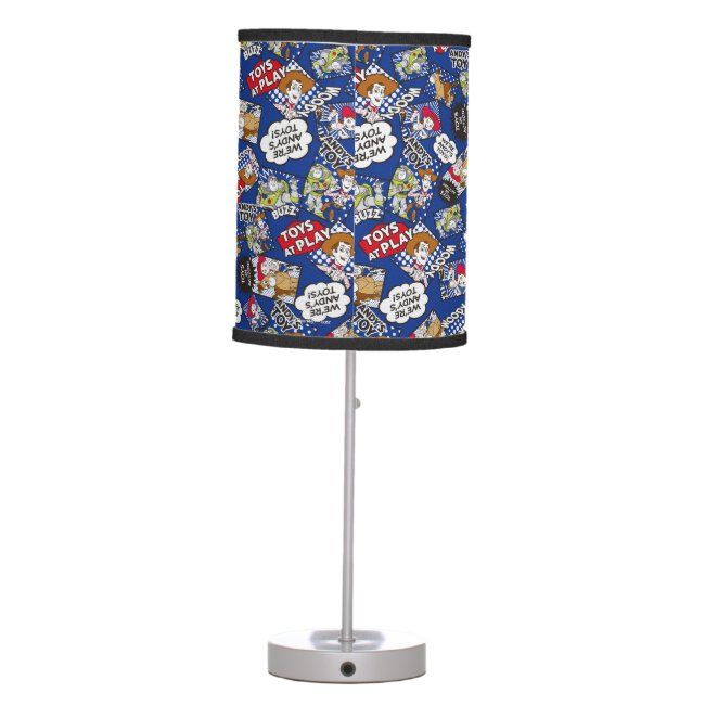 Toy Story Toys At Play Comic Pattern Table Lamp Affiliate Sponsored Comic Play Table Pattern Toy In 2020 Lamp Lamp Shade Custom Table