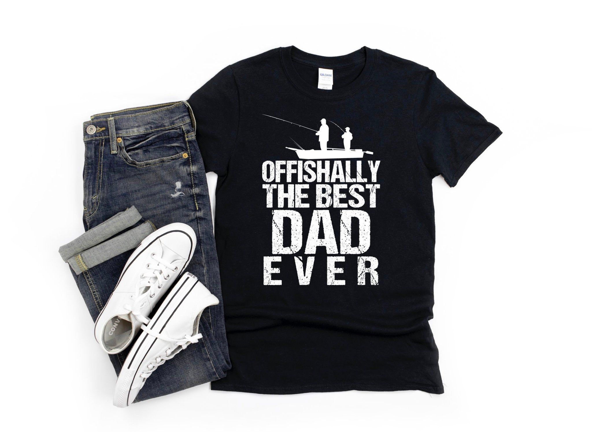 Fun Fishing Dad Shirt Fisherman Dad Tshirt Gift Offishally The