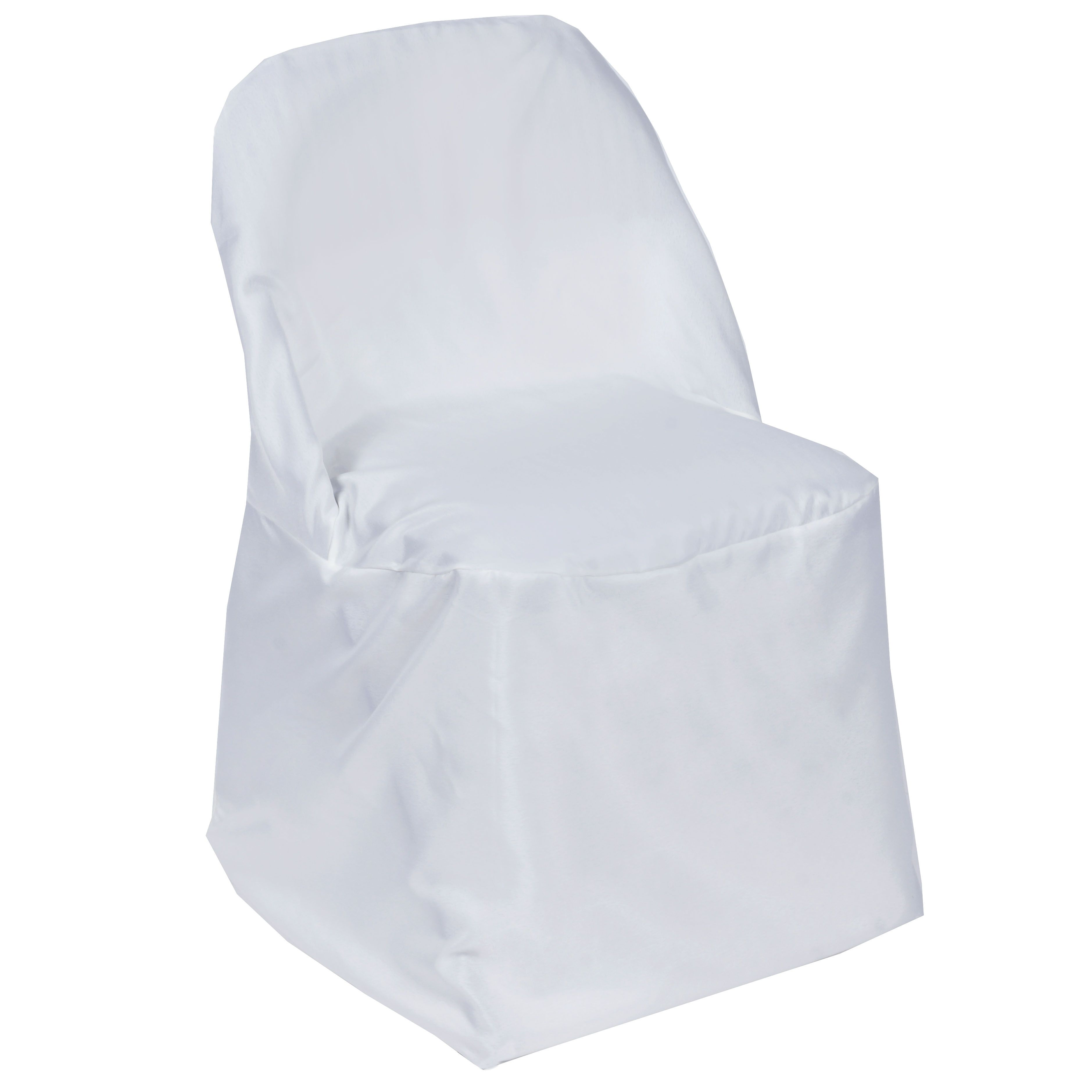 White Polyester Folding Chair Covers