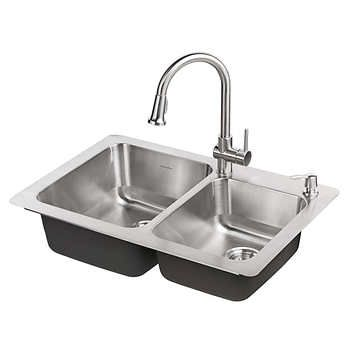 American Standard Montvale Kitchen Sink And Pull Down Faucet Package Best Kitchen Sinks Sink Kitchen Sink