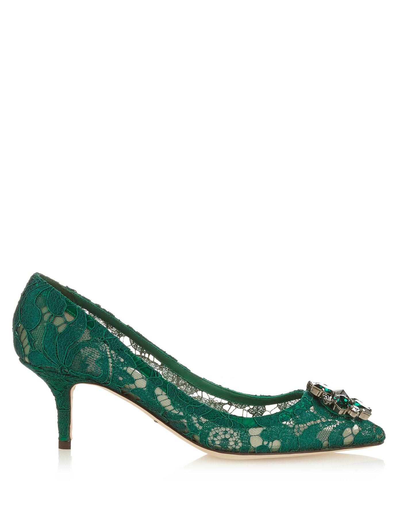 Crystal-Embellished Lace PumpsDolce & Gabbana pzYGaWOX