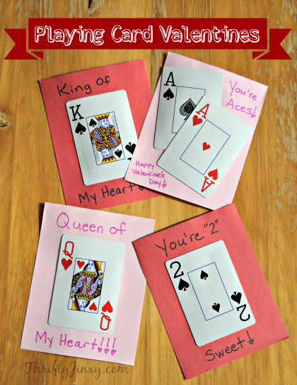 17 Handmade Valentines Day Cards Valentines Day Cards Handmade Valentines Cards Diy Playing Cards