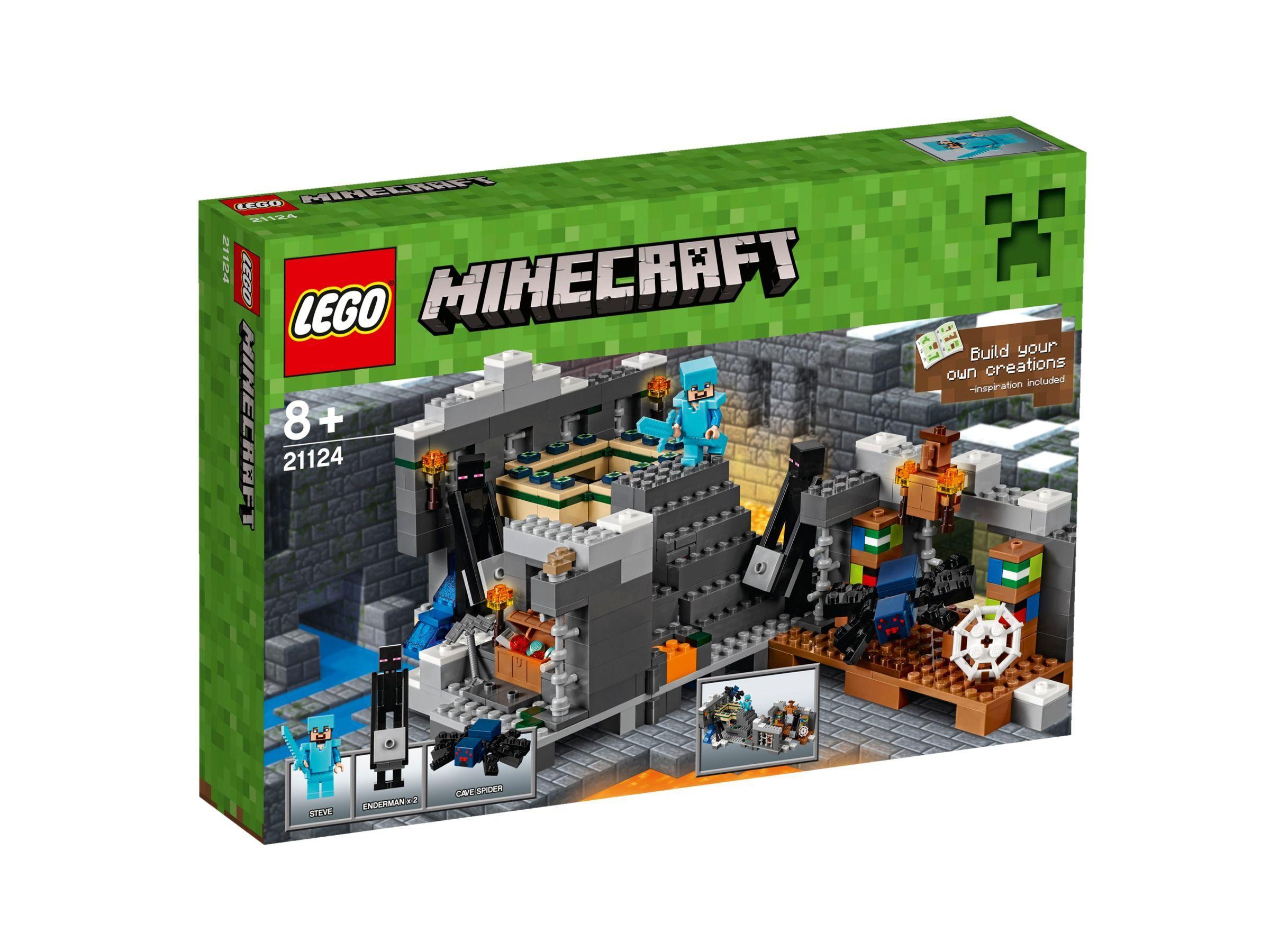 Lego LEGO LEGO Minecraft Das EndPortal Spiel Beide - Minecraft block spiele