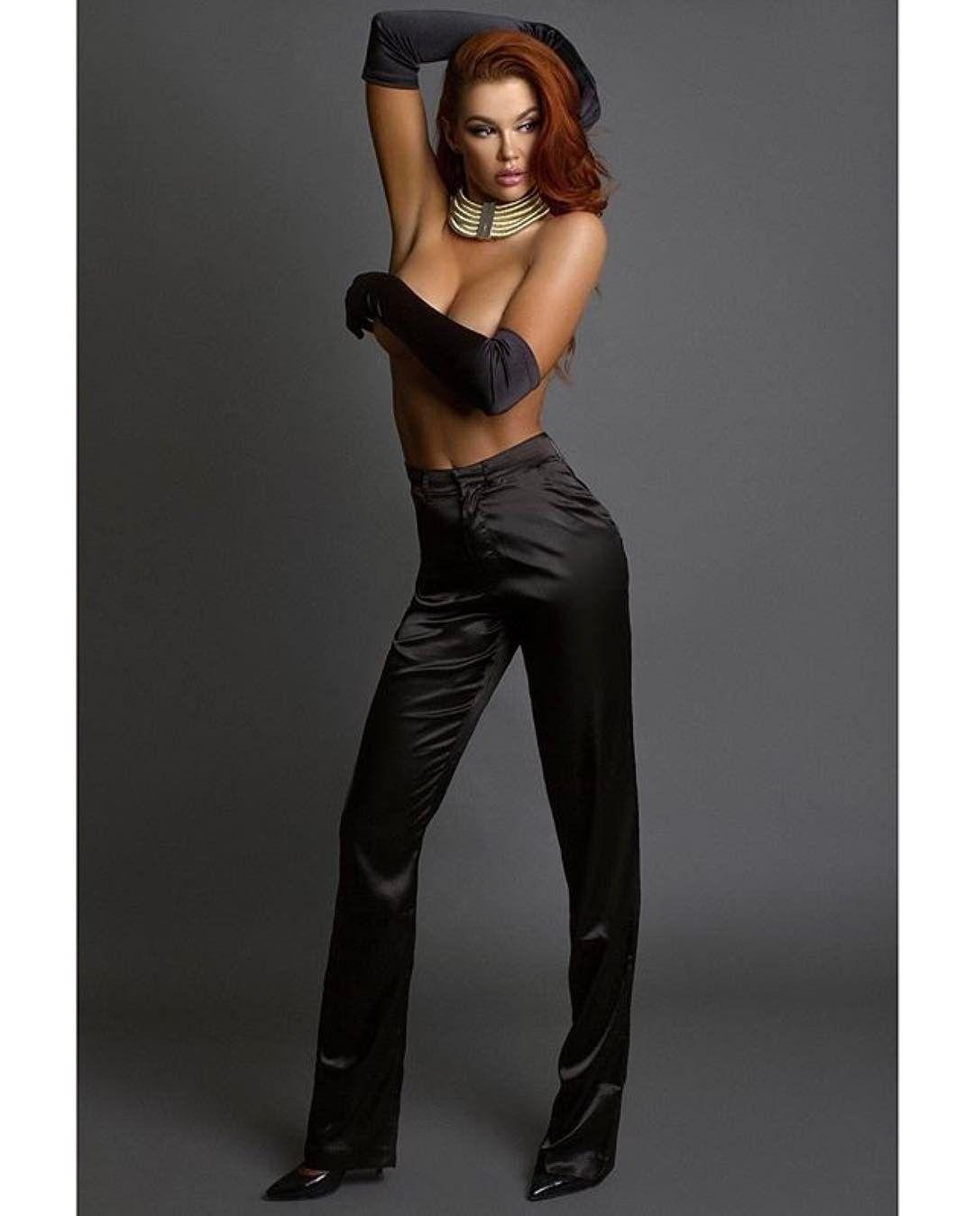 "Stunning @jessahinton wearing our ""Gemma Pants""  Photographer : @irmalomidze Makeup & Hair & Style : @irmalomidze"