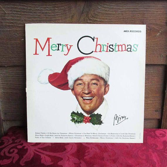 bing crosby christmas music vintage vinyl christmas album - Bing Crosby Christmas Music