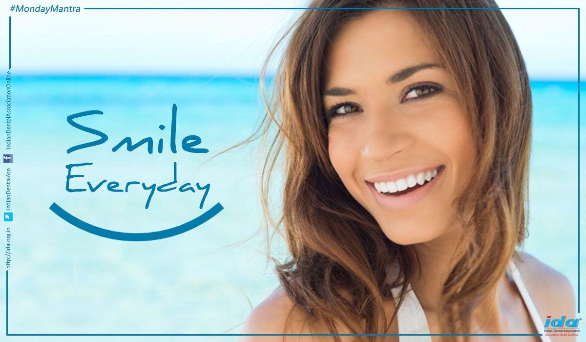 #MondayMantra : #Smile everyday.  #MotivationalMonday