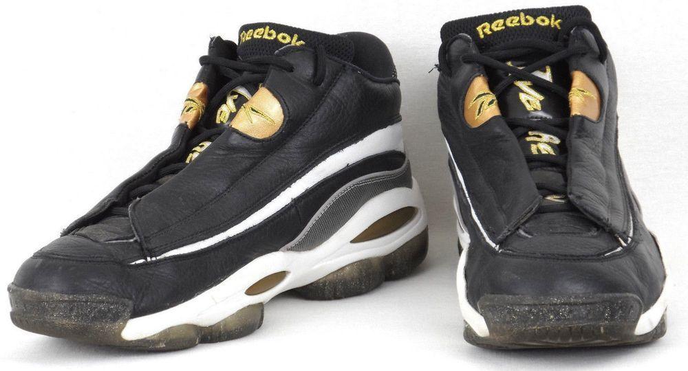 Black Gold Basketball Sneakers #Reebok