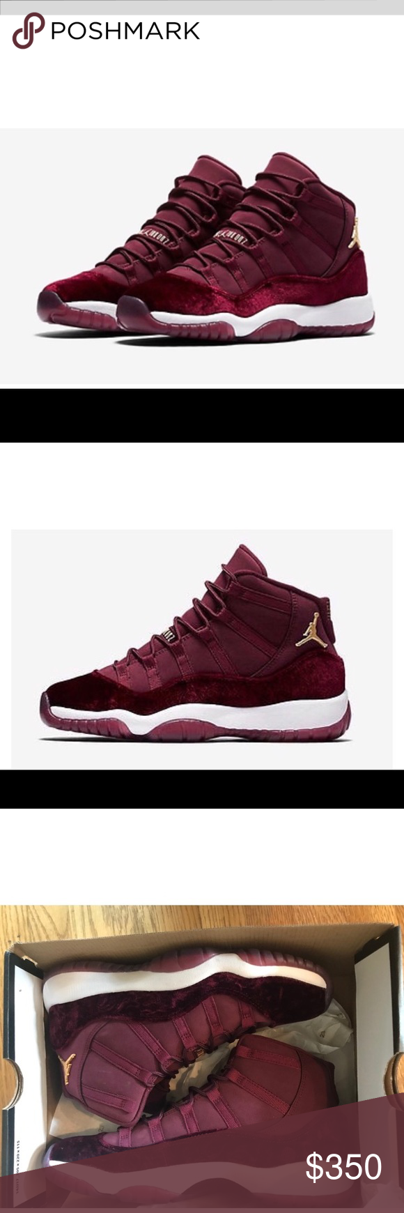 newest 42ebc 47cac Jordan 11 Red Velvet Burgundy Maroon Heiress 7.5 Air Jordan ...