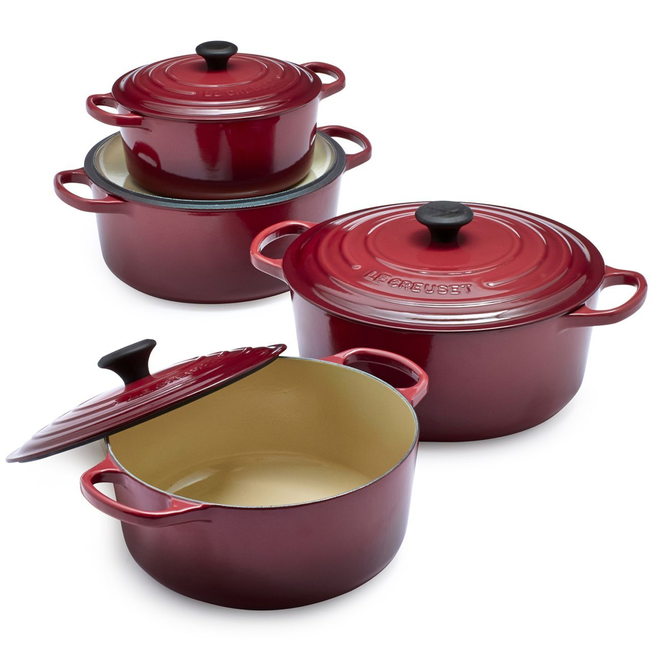 le creuset signature round dutch oven 9 qt oven. Black Bedroom Furniture Sets. Home Design Ideas