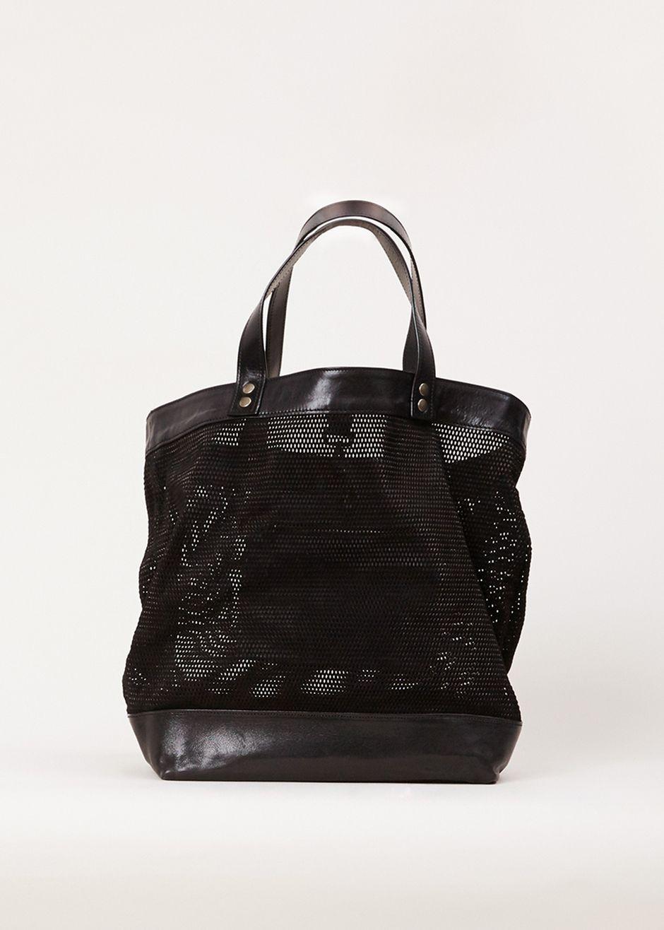 Ann Demeulemeester Suede Mesh Bag (Black)