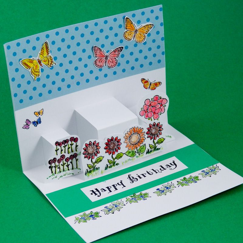 Card Making Ideas Step By Step Part - 22: Card Making Idea: Step Pop-Up Cards