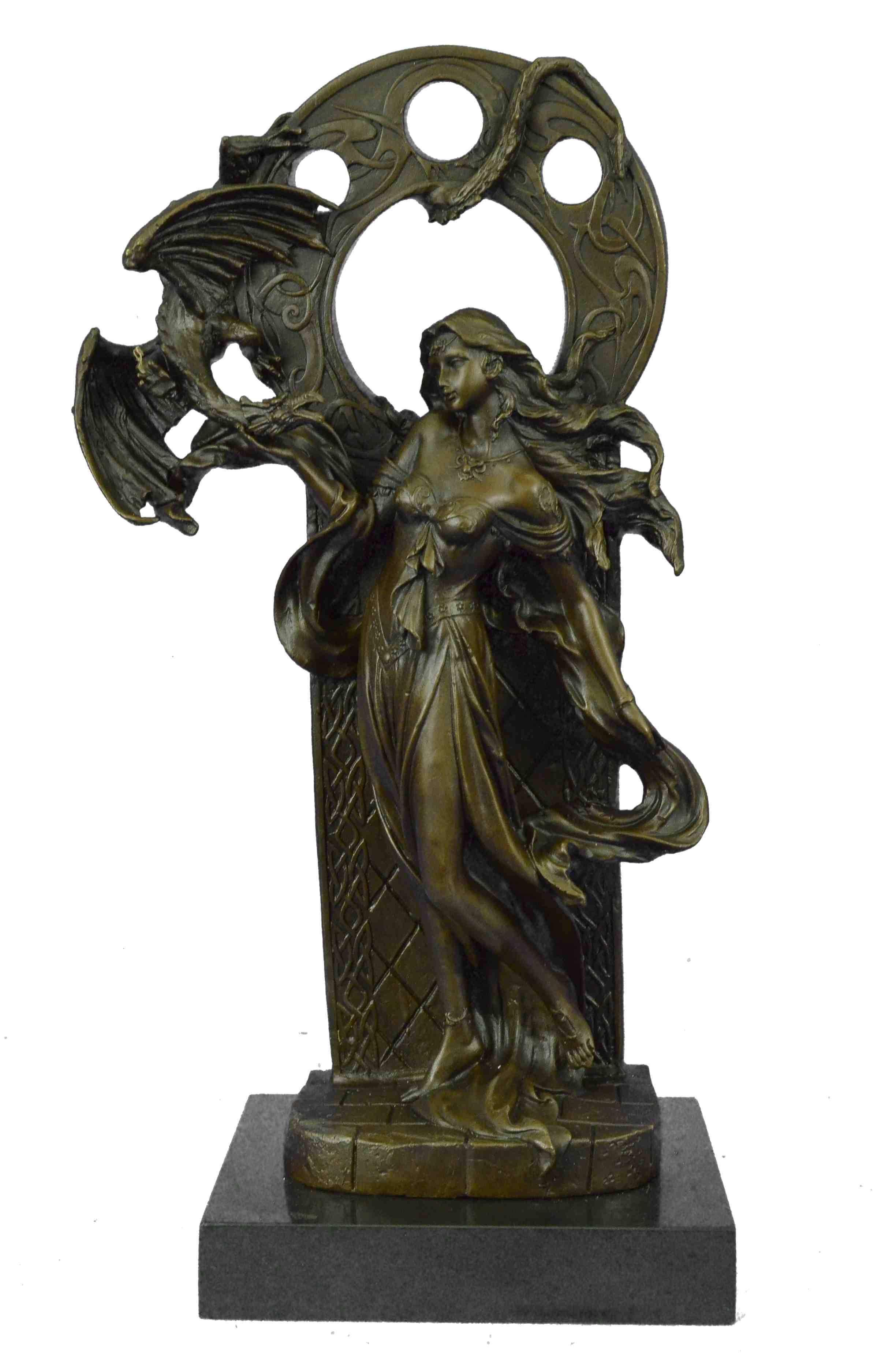 Statue Sculpture Diane Huntress Art Deco Style Art Nouveau Style Bronze Hot Cast