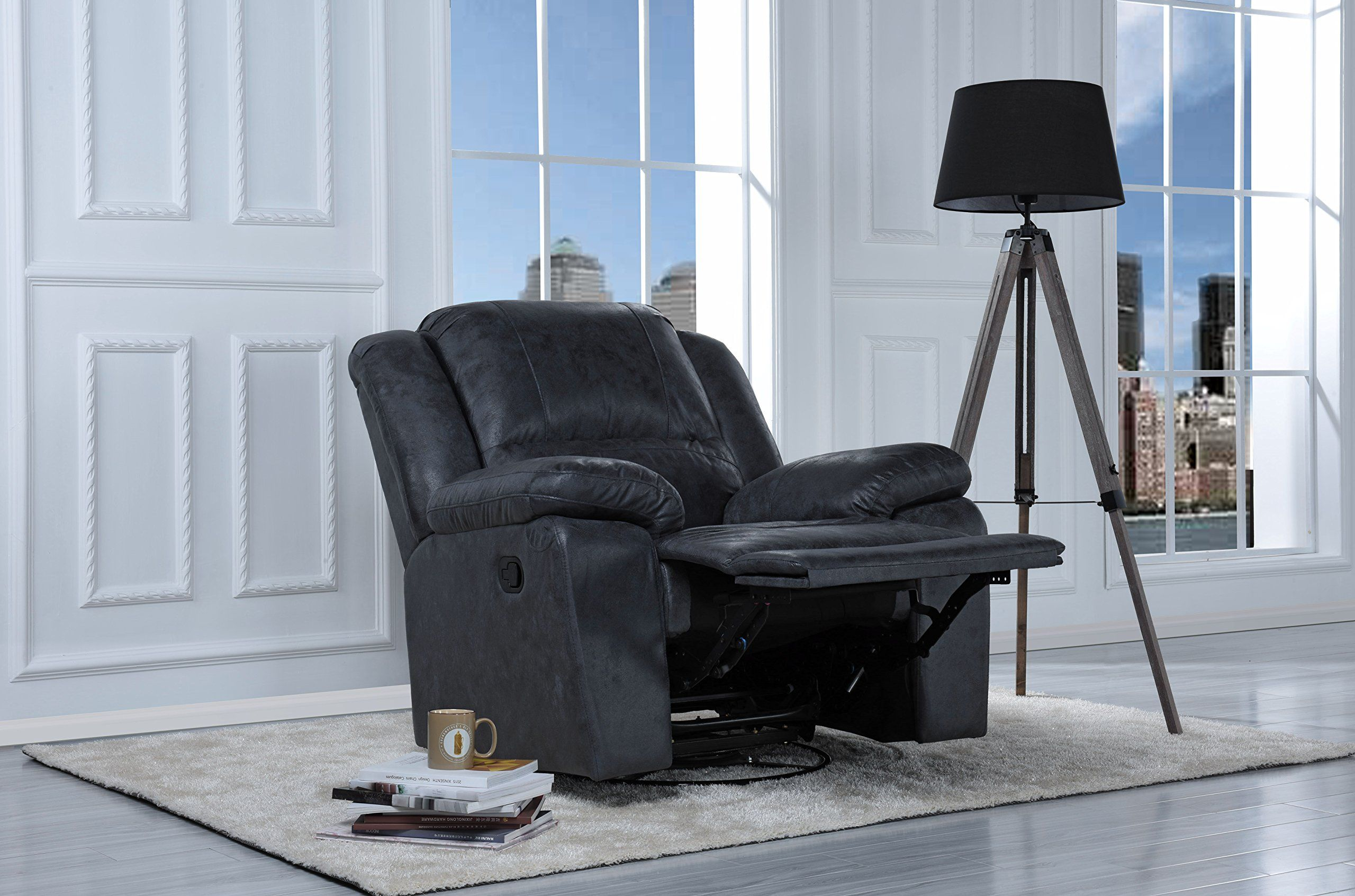 Oversize Ultra Comfortable Air Leather Fabric Rocker