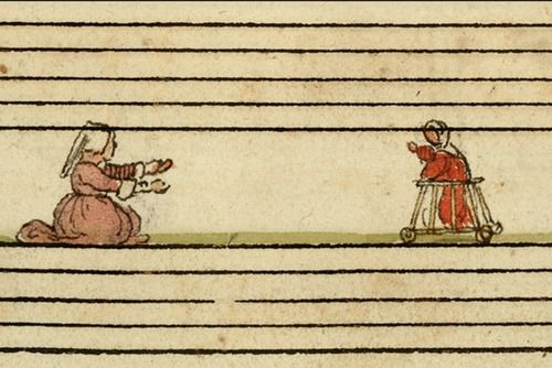 The first paper boy? The Cambrai Chansonnier is a marvelous four part song book made for Zeghere van Male, a prominent inhabitant of 16th century Bruges who was born before 1510 and died in 1601…