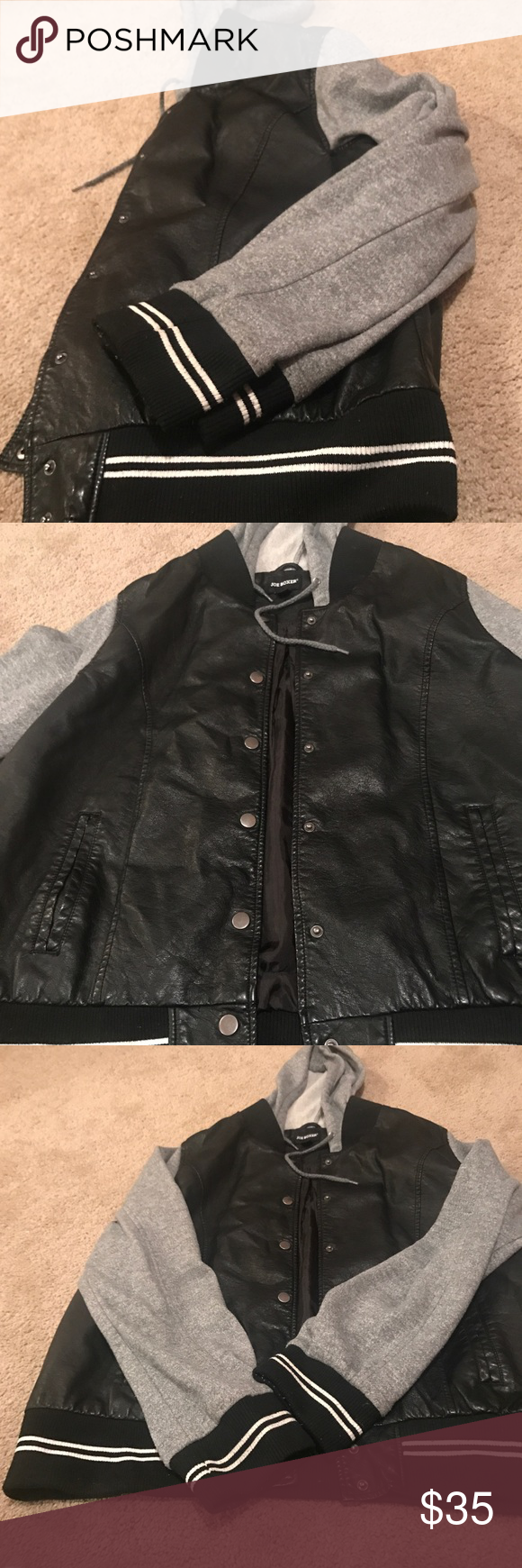 cae82f7cf7a5c Women's / Juniors Black and Gray Jacket XL Preowned Joe Boxer Women's  Jacket good condition Joe Boxer Jackets & Coats