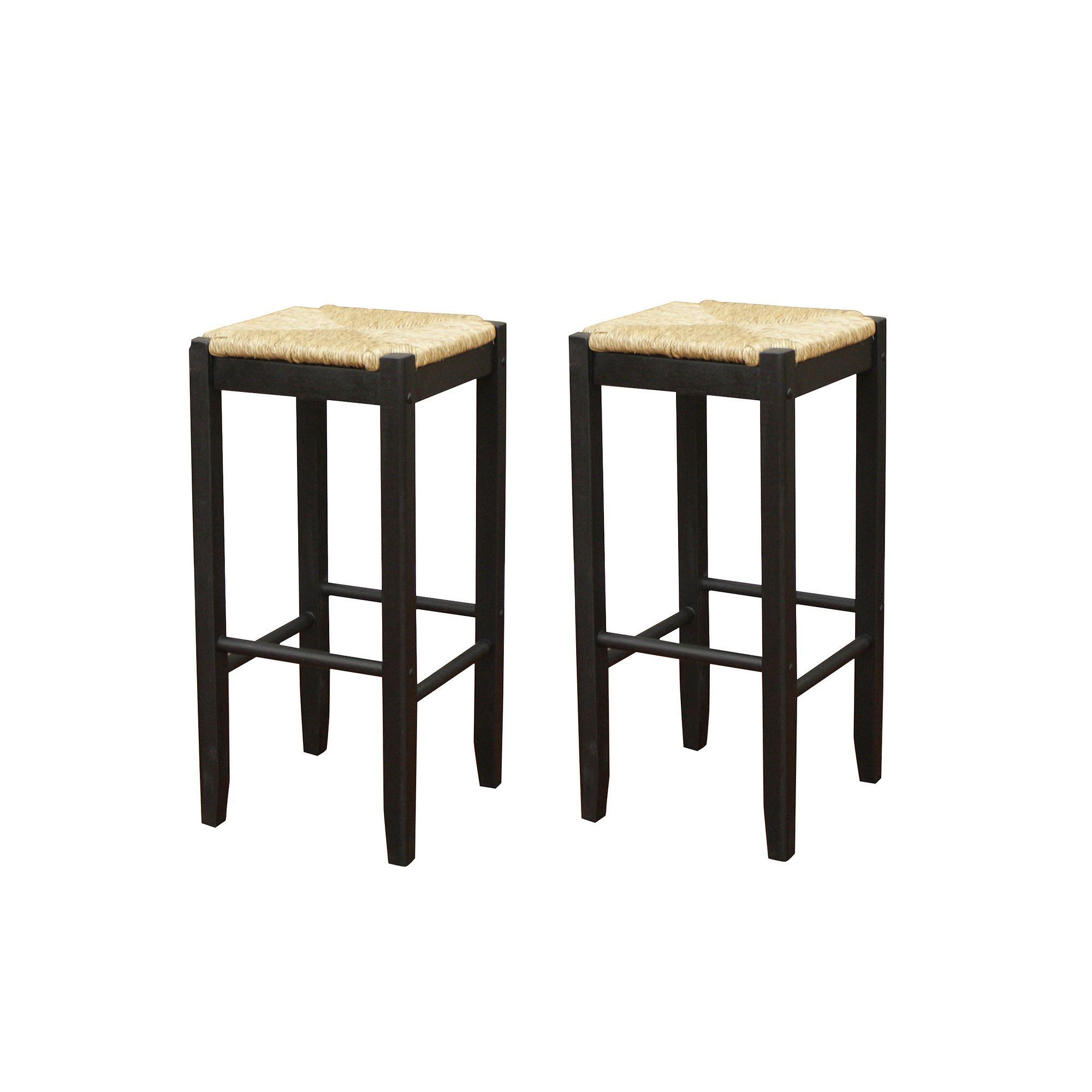 Stehtisch Rattan American Heritage Billiards 2 Pc Rattan Bar Stool Set Black