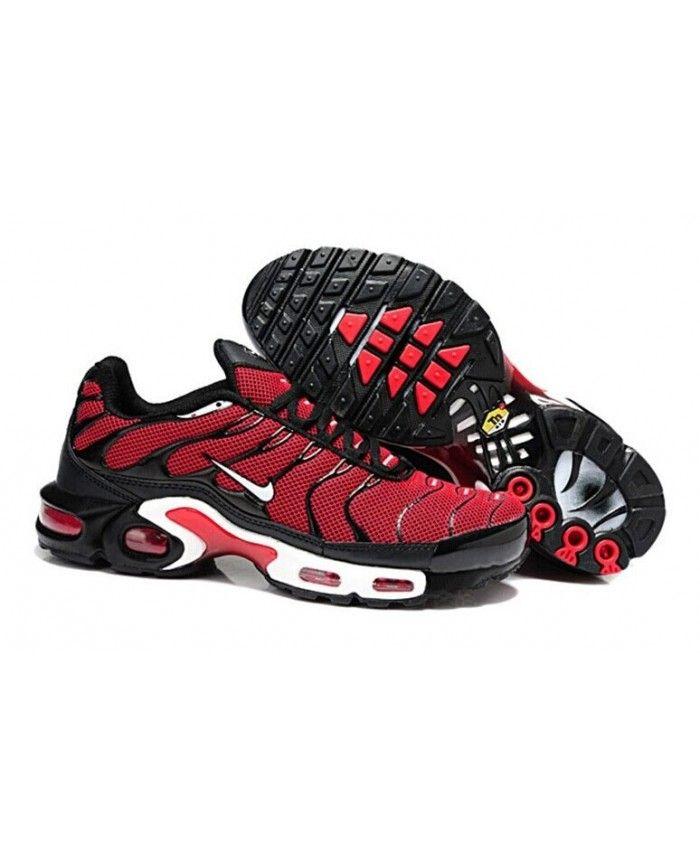 Homme Nike Air Max TN Rouge Noir Blanche Chaussures | Nike air max ...