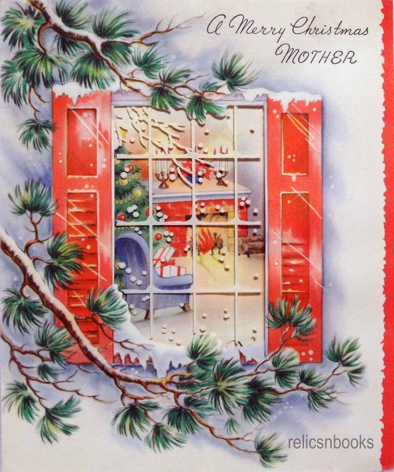 1066 50s through the window vintage christmas card greeting 1066 50s through the window vintage christmas card greeting kristyandbryce Choice Image
