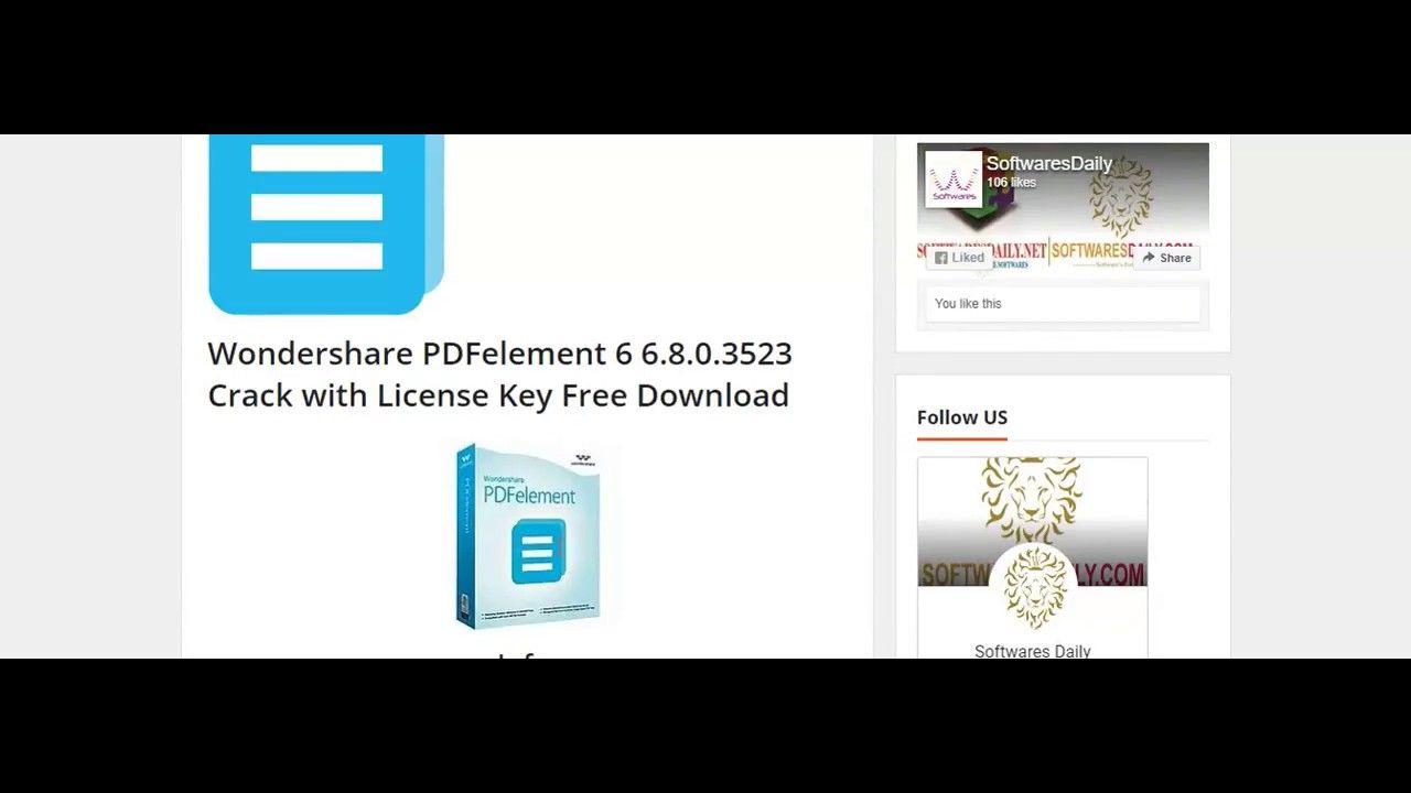 Wondershare Pdfelement 6 6 8 0 3523 License Key Free Download Math Books Free Download Coding