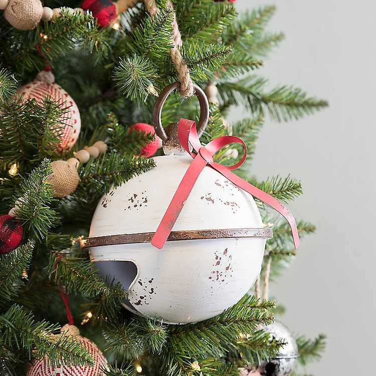 White Distressed Christmas Bell 9 In Christmas Pinterest