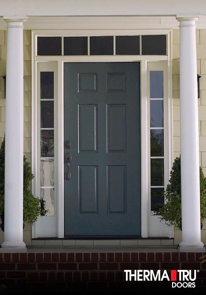 Therma-Tru Smooth-Star fiberglass door painted Gale Force ...