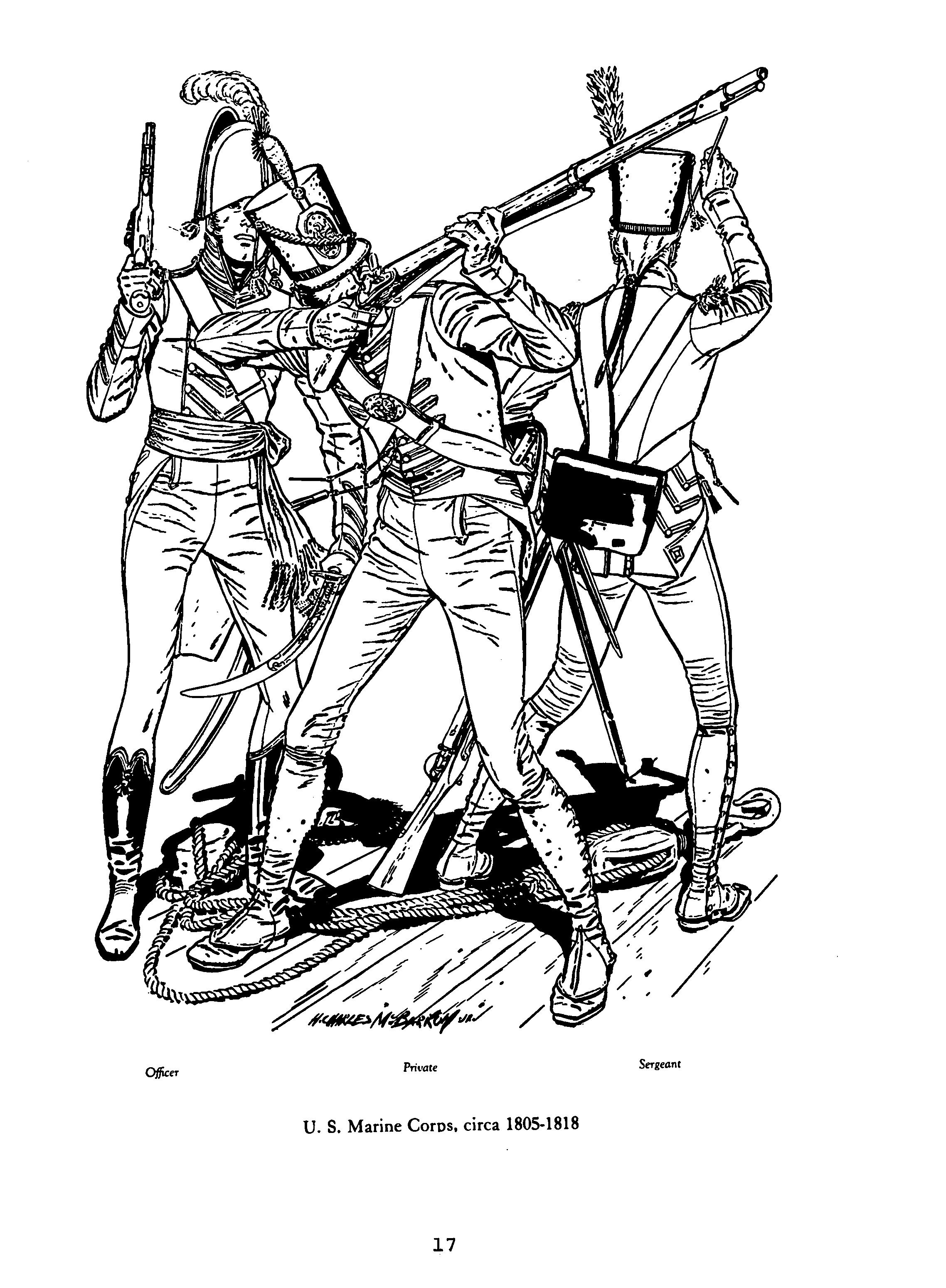 US Marines Corps, War of 1812, by H Charles McBarron