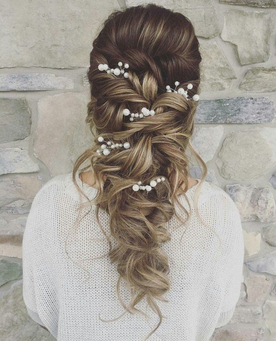 Hair pins wedding hair pins bridal Pearl Bridal hair pins Bridal hair pins pearl Wedding hair pins B #bridalhair