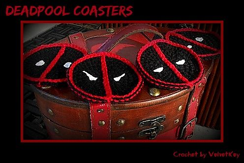 Through the Keyhole: Deadpool Coasters Pattern | Crochet patterns I ...