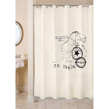 Park B. Smith 72-Inch x 72-Inch World Fabric Shower Curtain - BedBathandBeyond.com