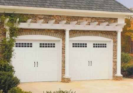 Garage Doors Leave Room Above For Vine To Grow Doors