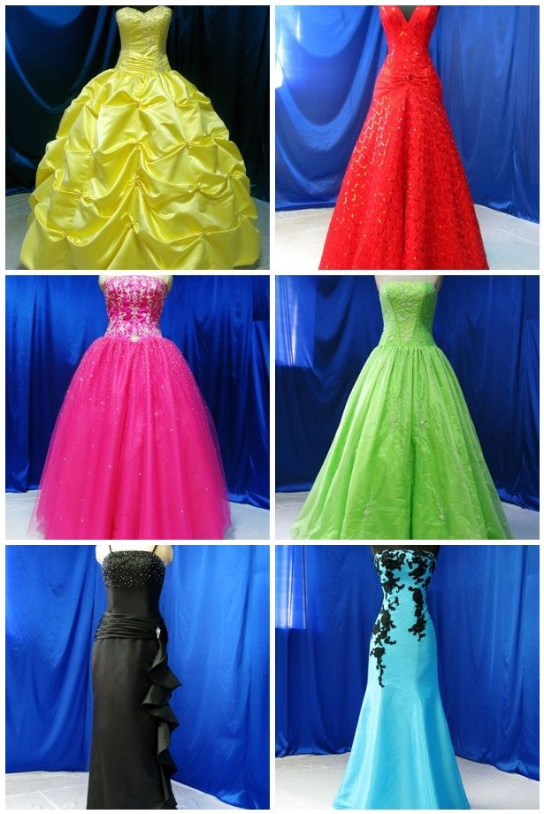 Wonderful Colored Wedding Gowns