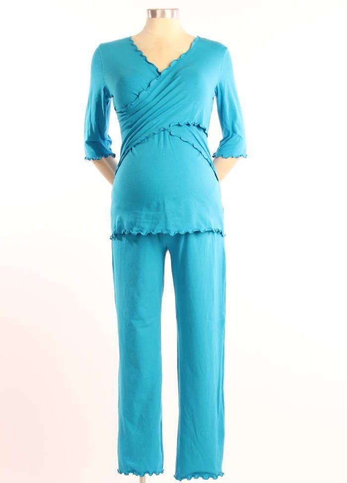 cross front pajama set
